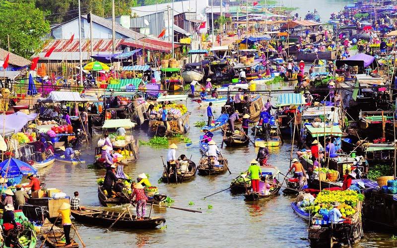 Chợ nổi Cái Răng nổi tiếng ở Cần Thơ
