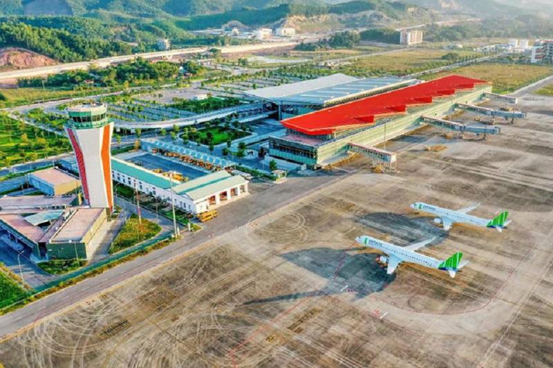 Toàn cảnh sân bay Pleiku nhìn từ trên cao