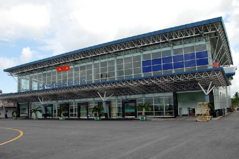 Sảnh chính của sân bay Rạch Giá