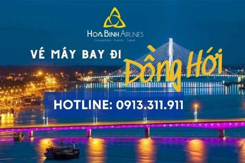 Đặt vé máy bay tại HoaBinh Airlines đi Đồng Hới