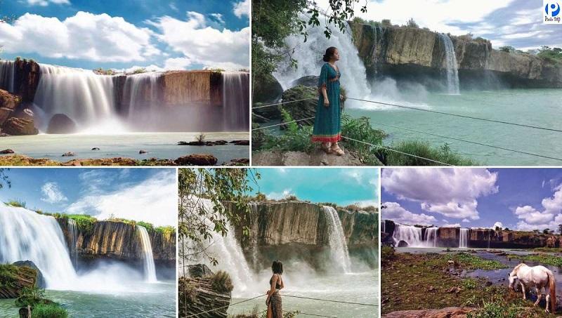 Các cụm thác nổi tiếng tại Serepok: Dray Sap, Dray Nur, Gia Long