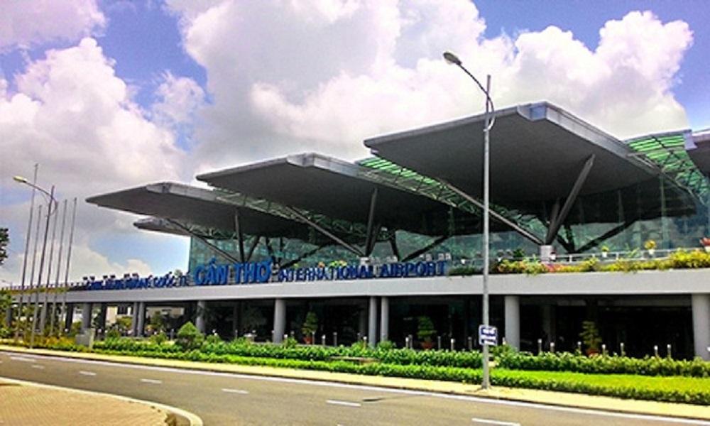 Toàn cảnh sân bay quốc tế Cần Thơ nhìn từ phía trước