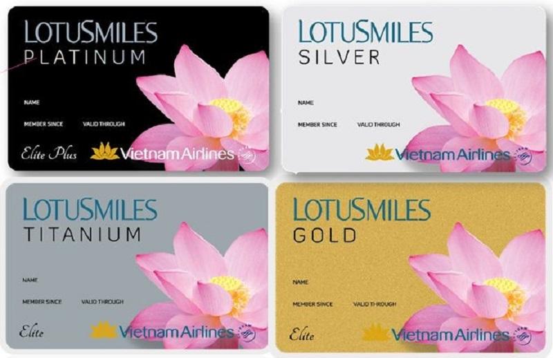 Hình ảnh các loại hạng thẻ được phát hành bởi Vietnam Airlines