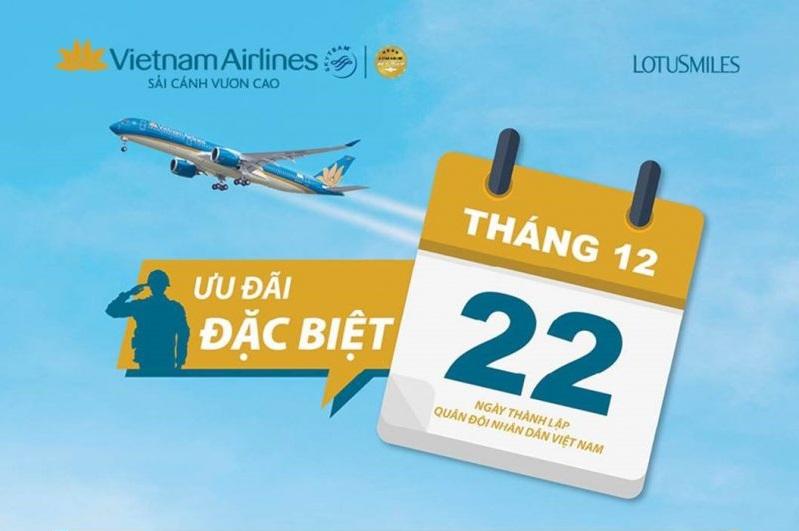 Ưu đãi của Vietnam Airlines vào tháng 12