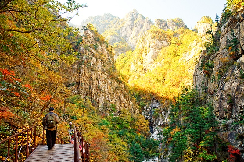 Cảnh sắc thơ mộng tại núi Seoraksan