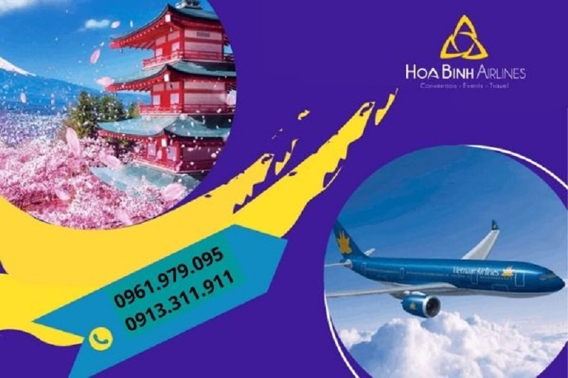 HoaBinh Airlines là đơn vị cung cấp vé máy bay đi Nhật giá cả cạnh tranh