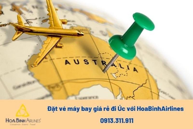 HoaBinh Airlines cung cấp vẻ máy bay đi Úc giá cả cạnh tranh